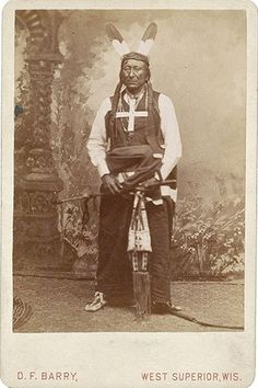 """Young Man Afraid of His Horses, Oglala Sioux  D.F. Barry Cabinet Card of Young Man Afraid of His Horses, Oglala Sioux, with Barry's West Superior, Wisconsin imprint.  Young Man Afraid of His Horses was a key player in """"Red Cloud's War,"""" a fight over the land in which an access route to the Montana gold fields was to be buil"""