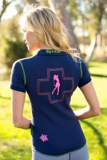 The new look for the course, Golf Rocks Cuff Polo................