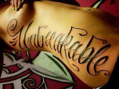 unbreakable tatoo