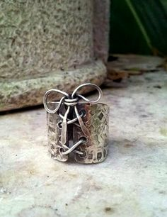 sterling silver corset ring by EdisLittleTreasures on Etsy, $75.00 https://www.etsy.com/listing/169144948/sterling-silver-corset-ring?utm_source=OpenGraph&utm_medium=ConnectedShop&utm_campaign=Share