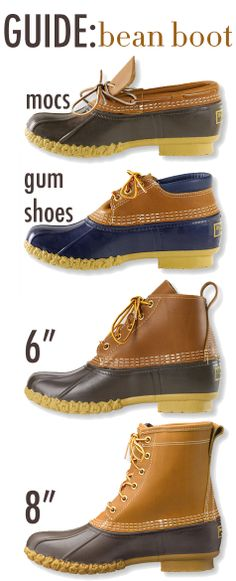 Now's the Time for Bean Boots!! @L.L.Bean I really want a pair of mocs... :) got my catalog today!
