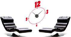 A clean simple design is the inspiration behind this minimalist wall clock. Dots and numbers are aligned in an oval shape to serve as a base for this self-adhesive removable wall clock. Combine this simple shape with a sleek silent clock mechanism and you'll have our modern Chrono Clock wall decal. Starts at $45.