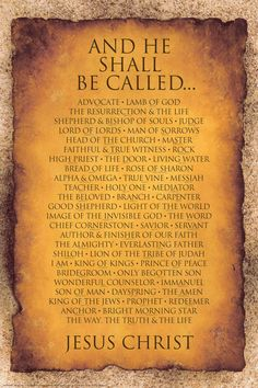 Names of Christ...