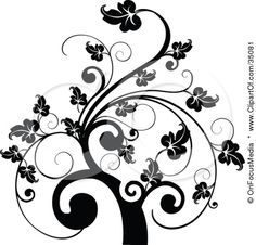 Google Image Result for http://images.clipartof.com/small/35081-Clipart-Illustration-Of-A-Black-And-White-Leafy-Scroll-Tree-Design.jpg