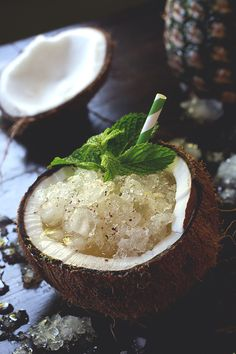 No! In a coconut! Painkiller Cocktail