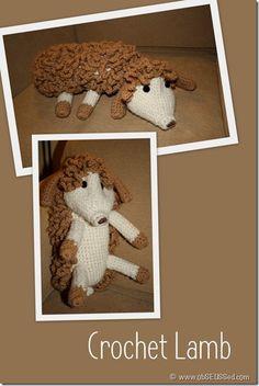 Crochet Lamb - stuffed animal