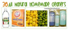 36 All Natural  Homemade Cleaners-Save $$$$$$