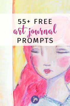 I love these free art journal prompts! They are great for beginners and/or kids too. This list of 55+ free art journaling prompts can be used for mixed media, happy journals, or an kind of journaling technique. They are one word prompts that will get your creative juices flowing! Love this. #artjournalprompts