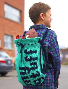 DIY: drawstring bag #crochet