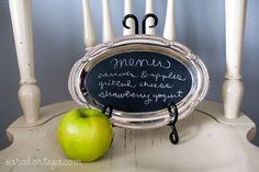 DIY Chalkboard Silver platter