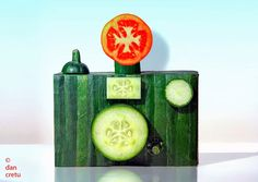 "Dan Cretu's ""camera"" food sculpture"