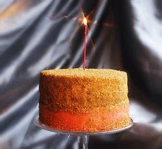 gold glitter birthday cake