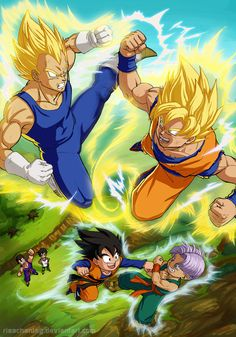 Dragonball Z: Fathers and Sons by: Risachantag on deviantART