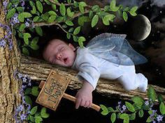 Sleeping baby fairy