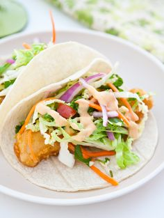 Fish Tacos with Yum Yum Sauce by EclecticRecipes.com #recipe