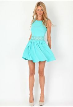 dresses and shoes, summer dresses, summer looks, teen dress, tiffany blue, the dress, skater dresses, baby blues, turquoise summer dress