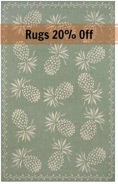 Tropical rugs on sale including this pineapple rug