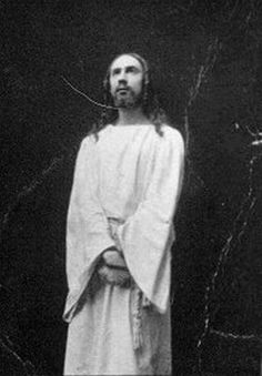 Images of Jesus...which do you connect with?  Bela Lugosi as Jesus Christ in a Passion Play in Hungary  in 1909, when he was 27 years old.