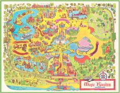 old school disney map for bb room