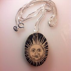 Scrimshaw on Casein  Sun Motif by scrimshaw on Etsy, $29.95