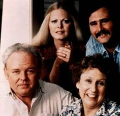 """Archie Bunker, Gloria Bunker-Stivic, Michael """"Meathead"""" Stivic, and Edith Bunker [All in the Family]"""