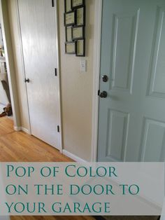 Add a pop of color to the back of the door to your garage
