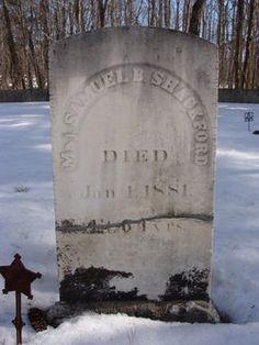 Tombstone Tuesday - Samuel B Shackford (1817-1881) #genealogy #familyhistory