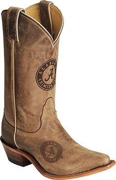 shall I????  Nocona Alabama Crimson Tide College Boots - Snip Toe