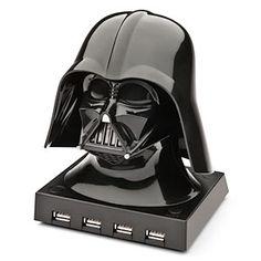 Darth Vader USB Hub for the Star Wars fans.