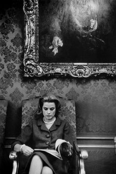 Grace Kelly - @classiquecom Silk damask upholstered wallcovering.