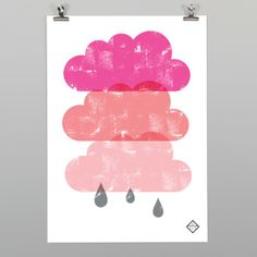 Pink Clouds Print by OSLO
