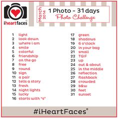 1 Photo - 31 Days Photo Challenge  #iheartfaces #photography