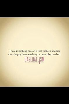 Love being a baseball mom