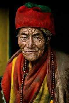 Monk at Jokhang temple, Lhasa, Tibet