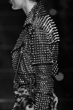 #leather #studded #jacket
