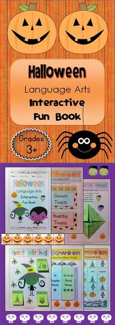 This Halloween interactive resource can be made into a 13 -page book by itself or integrated into an existing Language Arts interactive notebook. It is appropriate for Grades 3 and 4, but is easily adaptable for older grades with the inclusion of the editable section.