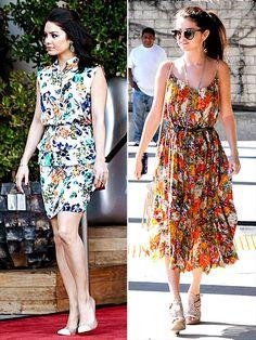 FLORAL DRESSES photo | Selena Gomez, Vanessa Hudgens