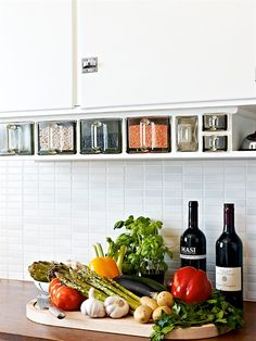 I love the idea of under counter storage containers for lentils and other commonly used items. It's a great way to save counter and pantry space, and keep them easily accessible.