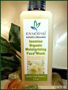 Jasmine Organic Moisturizing Luxury Face Wash. Sulfate & Paraben Free. #organic #beauty #skincare #natural #holistic #luxury