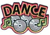Dance Fun Patch from MakingFriends.com when you are earning your Brownie Dancer Badge.