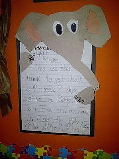Great bulletin board idea for non-fiction animal reports.
