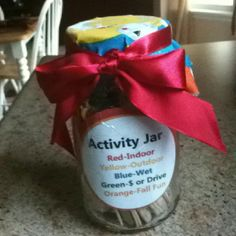 An Activity Jar is a great idea for any time of year - make one jar for each season!