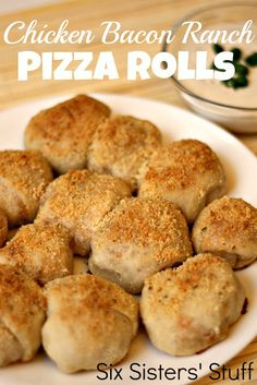 Chicken Bacon Ranch Pizza Rolls- an easy meal everyone will love!