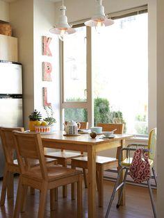 interior design, small kitchen designs, small tables, idea, small kitchens, cozi dine, creativ small, eatin kitchen, kitchen tabl