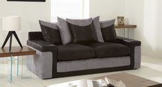 Link 3 Seater Sofa Scatter Back #sofa #leather #black