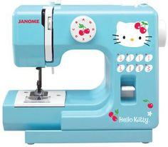 Having no idea how to sew, is no reason to not own a Hello Kitty sewing machine.