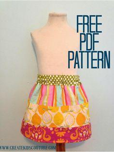 Free Pattern! Sarah Beth's Stripwork Skirt