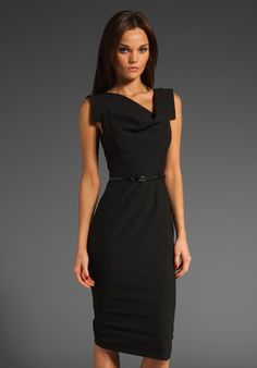 Classic Jackie O Dress in Black / Black  love this dress.