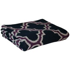 I pinned this Trellis Throw in Marine Plum from the Quatrefoil event at Joss and Main!