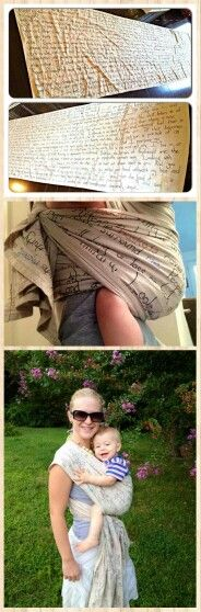 """DIY Osnaburg 5yd wrap with 103 lines of the poem """"Song of Myself"""" hand written. Absolutely beautiful. Made by Melissa Freeman: https://www.facebook.com/groups/334070496681248?view=permalink&id=679452945476333&ref=m_notif&notif_t=group_comment_reply&actorid=506918848"""